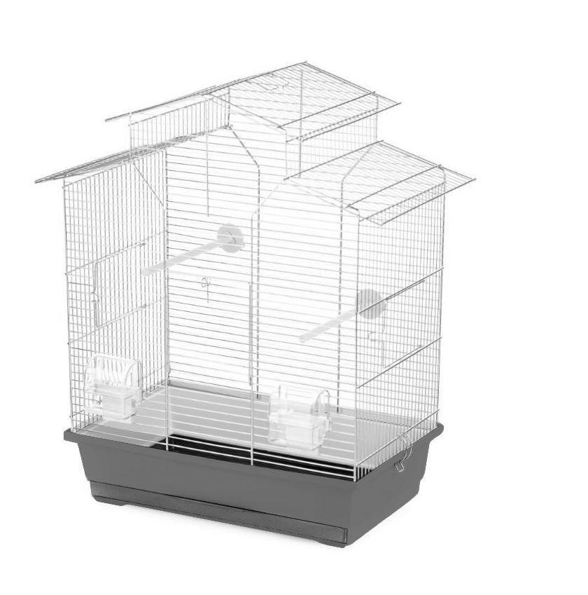 Клетка для мелких и среднихптицоцинкованная Songbird 51x30x60,5 см