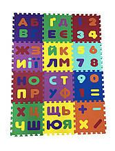 Коврик-пазл EVA , «Абетка та математика» набір 12 шт. 1,08 м2, 30х30 см, т. 10 мм  щ. 100 кг/м3 TERMOIZOL®