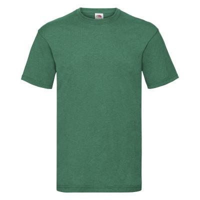 Классная мужская летняя футболка однотонная цвет зеленый меланж