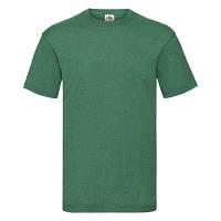 Классная мужская летняя футболка однотонная цвет зеленый меланж, фото 1