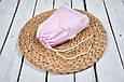 Накидка для кормления с сумочкой чехлом, Малино-белые полосочки, фото 3