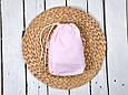 Накидка для кормления с сумочкой чехлом, Малино-белые полосочки, фото 5