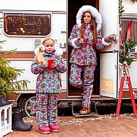 Зимний женский комбинезон с мехом Family Look, фото 1