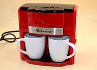 Капельная кофеварка DOMOTEC MS-0705 Красная (500 Вт) + 2 чашки