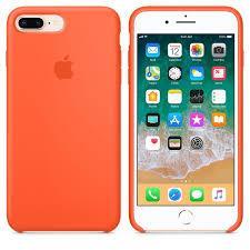 """Apple silicon case iPhone 7 Plus/iPhone 8 Plus """" Spice orange """""""