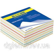 Блок бумаги для записей РАДУГА 80х80х30мм, склеенный