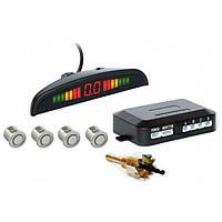 Парктроник автомобильный PAssistant на 4 датчика + LCD монитор Серые датчики, фото 1