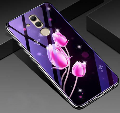 Чехол Huawei стеклянный Fantasy для Huawei Mate 20 lite Тюльпаны