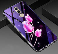 Чехол Huawei стеклянный Fantasy для Huawei Mate 20 lite Тюльпаны, фото 1