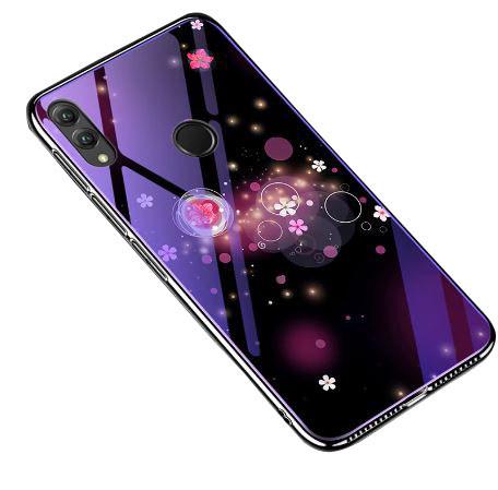 Чехол Huawei стеклянный Fantasy для Huawei Honor Play Пузырьки и цветы