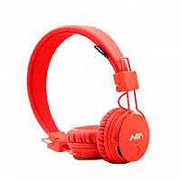 Беспроводные Bluetooth Наушники с MP3 плеером NIA-X3 Радио блютуз Красные, фото 1