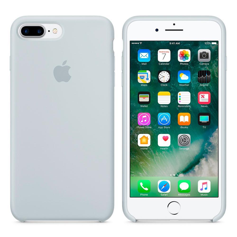 """Apple silicon case iPhone 7 Plus/iPhone 8 Plus """"Mist Blue"""""""