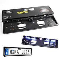 Камера заднего вида в рамке автомобильного номера с LED подсветкой