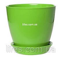 Вазон керамический зеленый