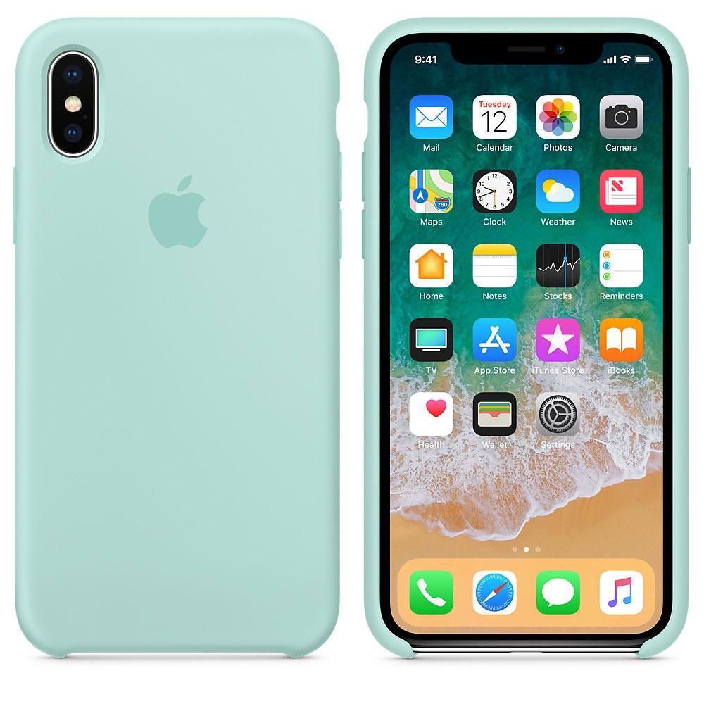 "Apple silicon case iPhone X  "" Marine Green """