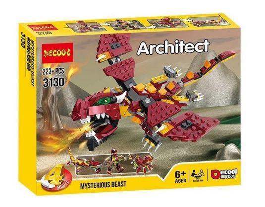 Конструктор Decool Architect 4v1 міфічні створіння (223 Деталей)