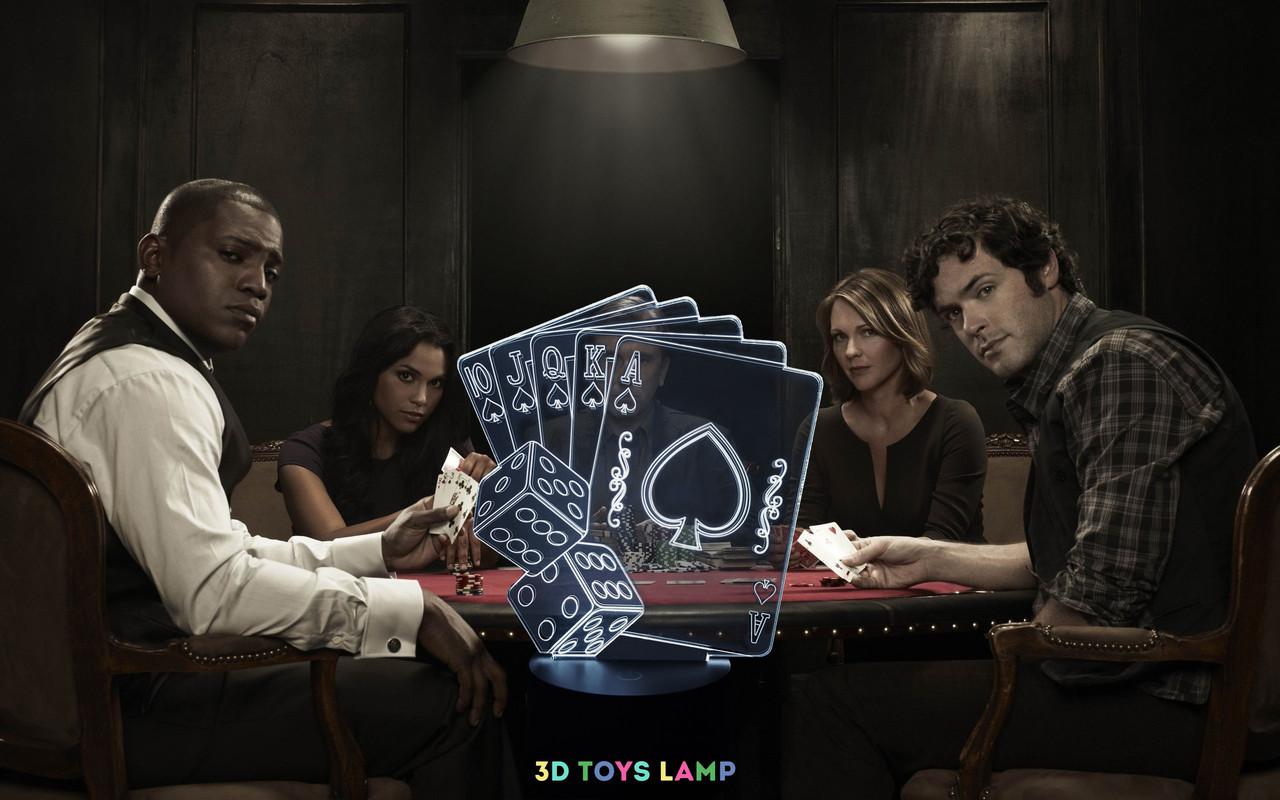 """3Д лампа """"Покер"""""""
