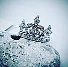 Корона кольцо серебро, фото 2
