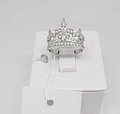 Корона кольцо серебро, фото 3