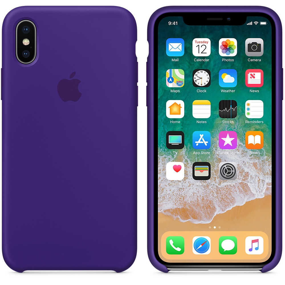 """Apple silicon case iPhone X """"Violet"""""""