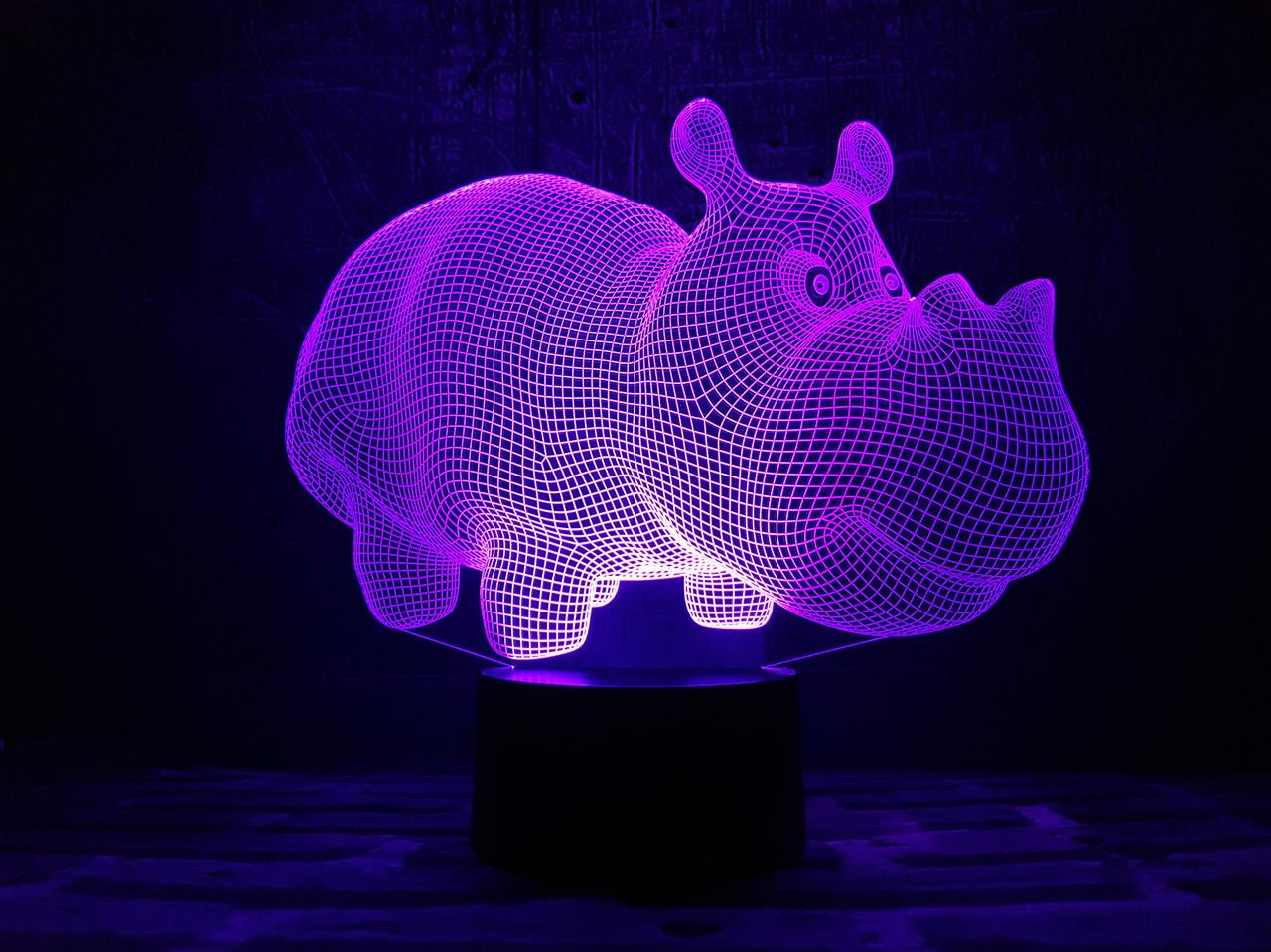 "Сменная пластина для 3D ламп ""Бегемот"" 3DTOYSLAMP"