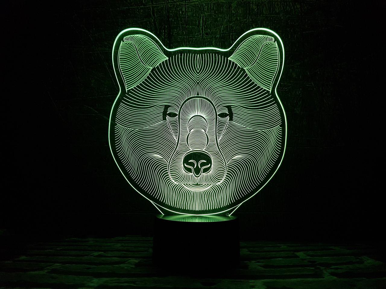 "Сменная пластина для 3D ламп ""Медведь"""