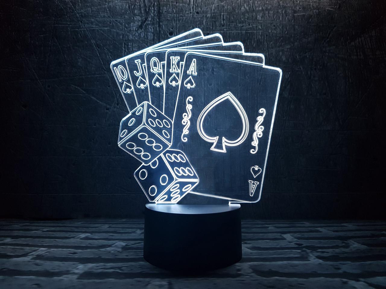 """Сменная пластина для 3D светильников """"Покер"""" 3DTOYSLAMP"""
