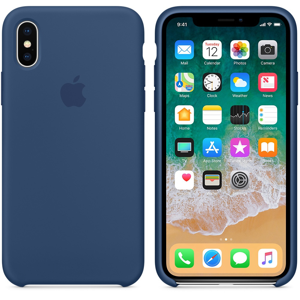 "Apple silicon case iPhone X  ""Blue Cobalt """