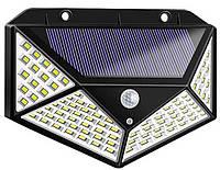 Светильник настенный на солнечной батарее с датчиком движения уличный 100 LED