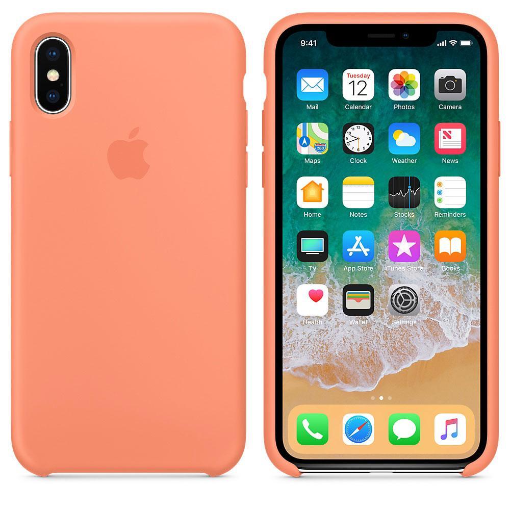 "Apple silicon case iPhone X ""Peach"""
