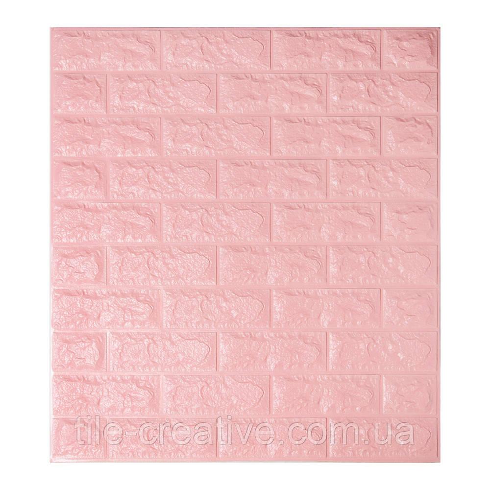 Самоклеящаяся 3D панель обои Sticker Wall 700x770x7мм розовый кирпич