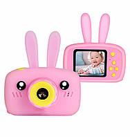 Детская цифровая мини камера фотоаппарат для ребенка с ушками x9s HD + 32GB карта памяти в комплекте