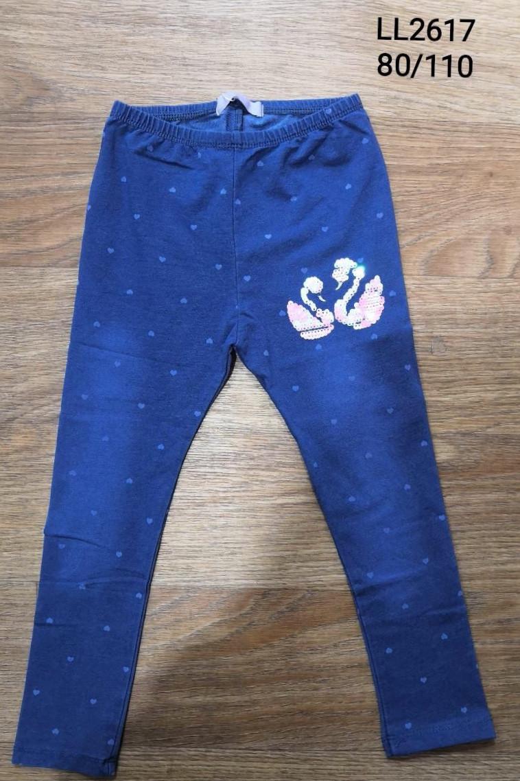 Лосины с имитацией джинсы для девочек Sincere, 80-110 pp.