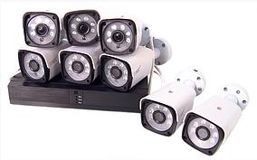 Беспроводной DVR регистратор.Комплект видеонаблюдения 8-канальный и 8 камер ABX Full HD Camera Kit Wi-Fi