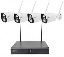Комплект видеонаблюдения беспроводной DVR регистратор 4-канальный и 4 камеры ABX Full HD Camera Kit 8004/6673