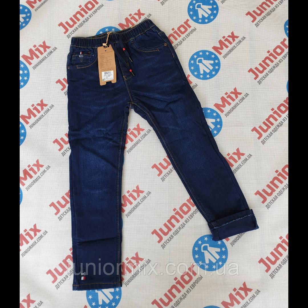 Подростковые теплые джинсы на флисе для мальчиков оптом GRACE