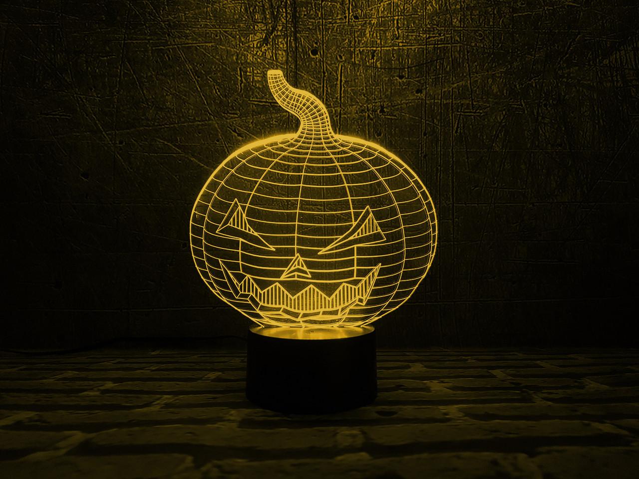"""Сменная пластина для 3D светильников """"Хэллоуин"""" 3DTOYSLAMP"""