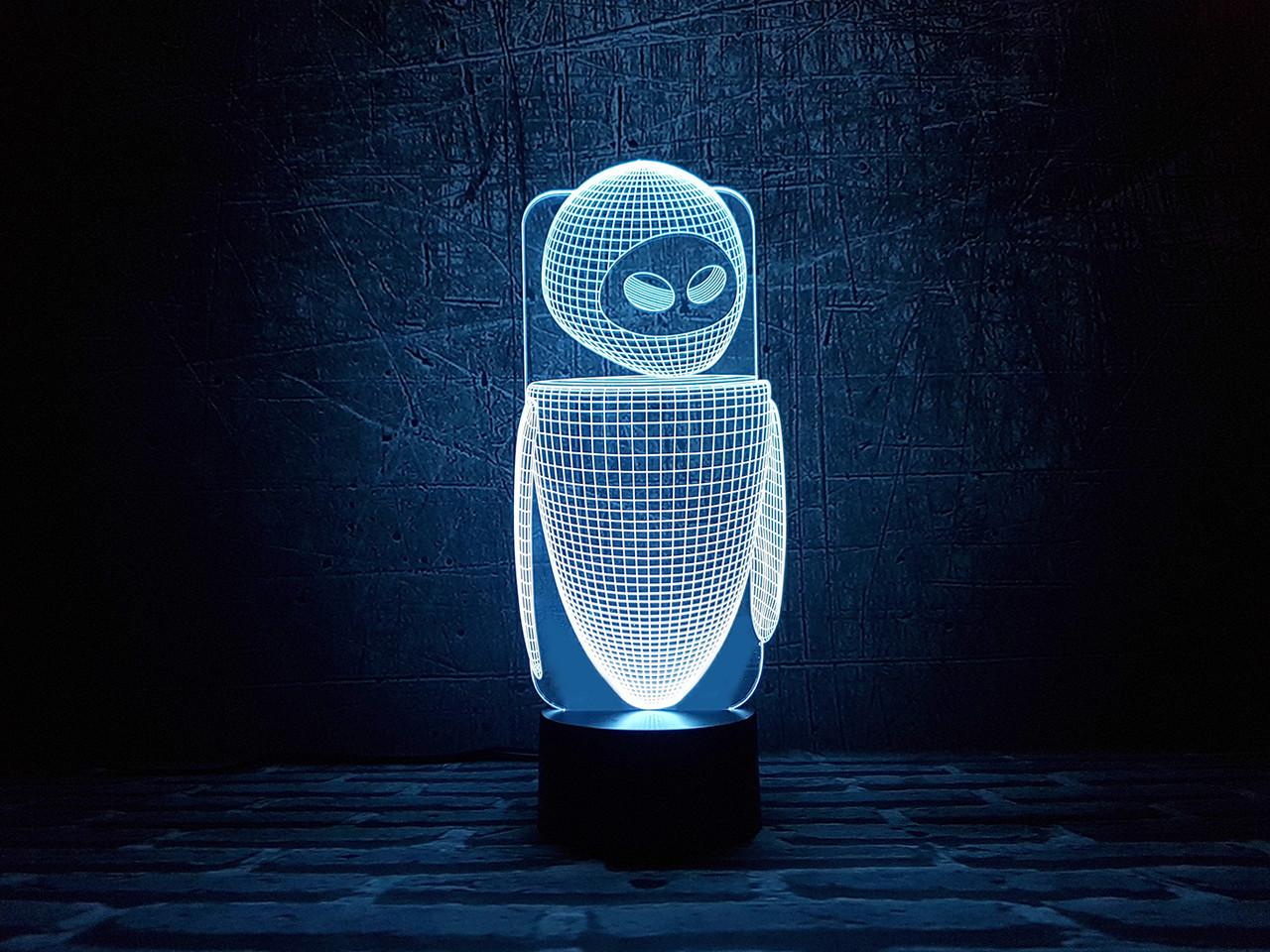 """Сменная пластина для 3D светильников """"Ева"""" 3DTOYSLAMP"""
