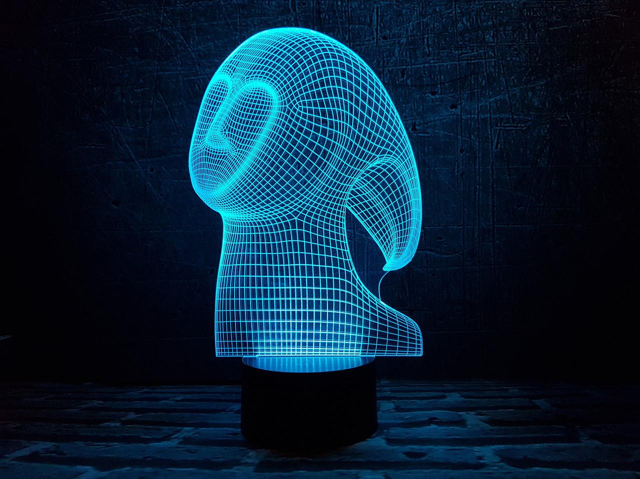 """Сменная пластина для 3D ночника """"Спирит"""" 3DTOYSLAMP"""