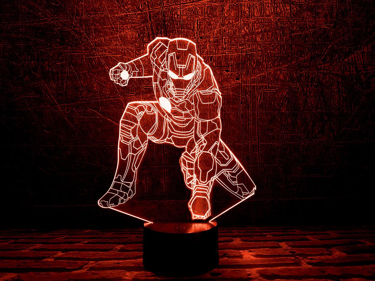"""Сменная пластина для 3D ночника """"Железный человек 4"""""""