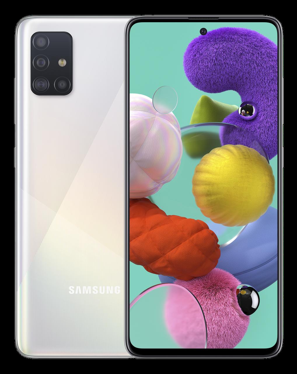 Смартфон Samsung Galaxy A51 2020 6/128Gb White (SM-A515FZWWSEK) UA