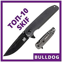 Нож складной Skif Bulldog 733В (длина: 234мм, лезвие: 100мм, черное), черный