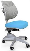Кресло Mealux Speed Ultra KBL (арт.Y-1017 KBL) спинка серая / обивка голубая