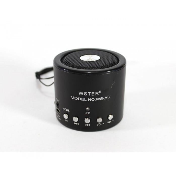 Портативная колонка WSTER WS-A8 с ФМ, MP3, USB, радио