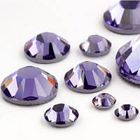 Стразы стеклянные SS 3 Tanzanite, 100 шт
