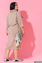 Женское платье батал с хомутом /разные цвета, 50-60, ST-56855/, фото 3