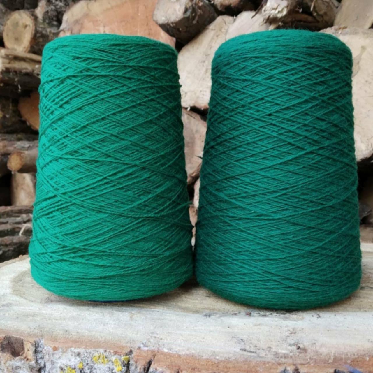 Кардная шерсть, зеленый