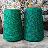 Кардная шерсть, зеленый, фото 2
