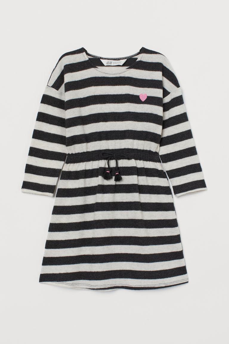 Платье теплое серое в полоску  H&M р. 98/104, 110/116см