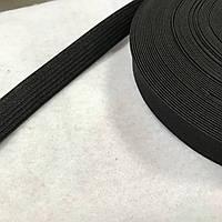 Еластична гумка чорна вузька, ширина 1,5 см, фото 1